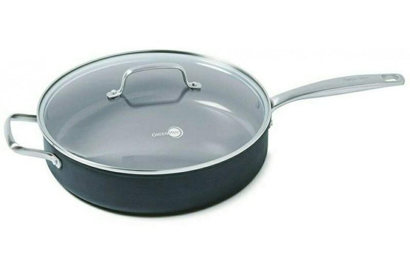 GreenPan Jumbo Saute Pan with Lid 30cm 4.78 Litre