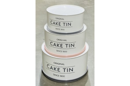 Mason Cash Innovative Kitchen Coated Steel Upside Down Stackable / Nesting Cake Tins Set of 3