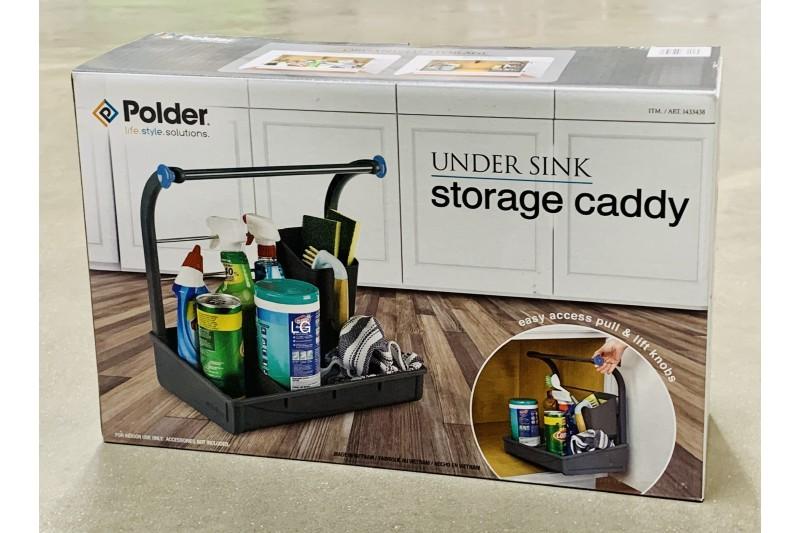 Polder Grab & Go Under Sink Storage Caddy Kitchen Cupboard Organiser