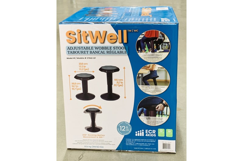 SitWell Height Adjustable Wobble Stool