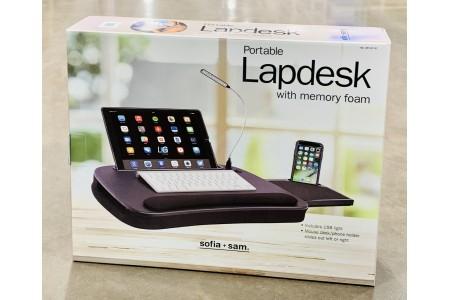 Sofia + Sam Multi Tasking Memory Foam Lap Desk With Mouse Deck & USB Light