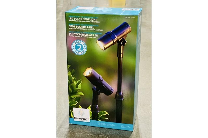Alpan Smart Yard LED Solar Spotlights 2 Pack Adjustable Height & Focus
