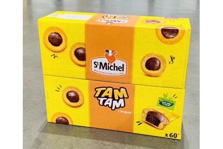 St Michel Tam Tam L'Original Soft Round Dough Snack 60 Cakes Bite Pack