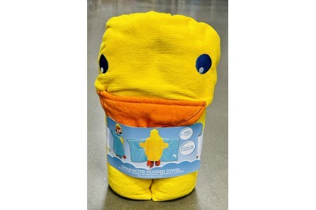 Character Hooded Towel Duck