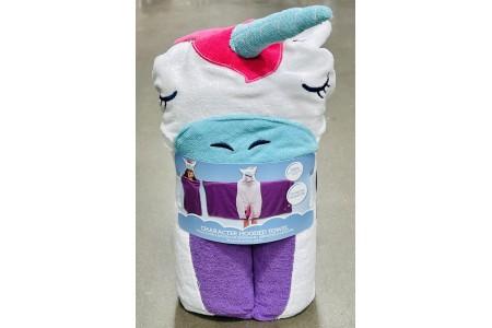 Character Hooded Towel Unicorn