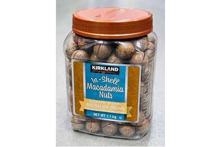 In Shell Macadamia Nuts Australian Grown Roasted Pack 1.1kg Kirkland Signature