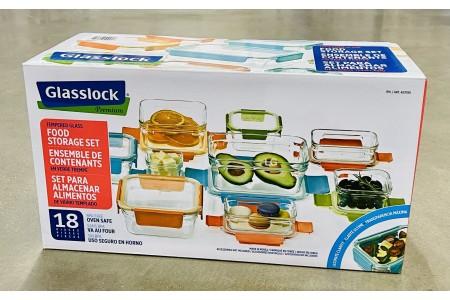 Glasslock Premium Safe Tempered Glass Food Storage Container Set 18 Pieces
