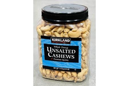 Unsalted Roasted Whole Fancy Cashew Nuts 1.13kg  Kirkland Signature