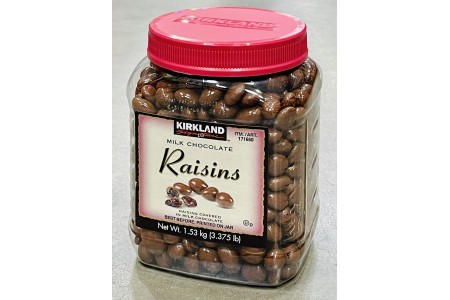 Milk Chocolate Covered Raisins 1.53kg Kirkland Signature
