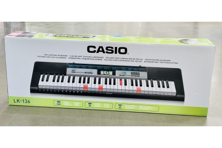 Casio LK136AD Key Lighting Keyboard with 100 Built in Tunes