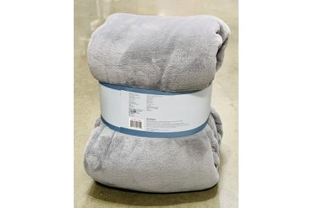 Berkshire Life Luxe Loft Queen Blanket Throw in Alloy Grey 249 x 234 cm