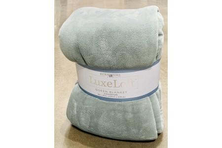 Berkshire Life Luxe Loft Queen Blanket Throw in Smokey Aqua 249 x 234 cm