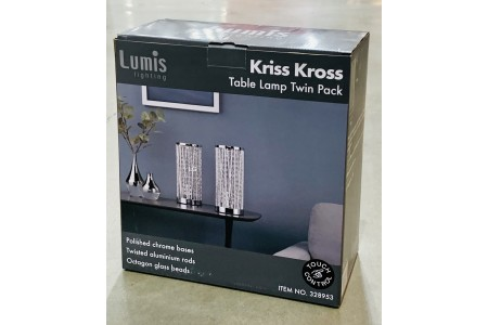 Lumis Lighting Kriss Kross Touch Lamp 2 Pack