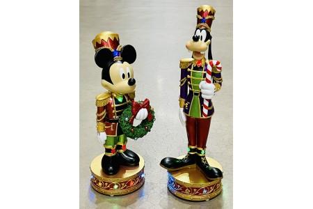 Disney Christmas Mickey & Goofy Musical Nutcrackers with LED Lights