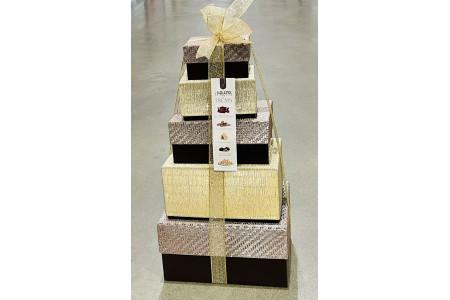 Tower of Treats Purple Box Festive Christmas Hamper