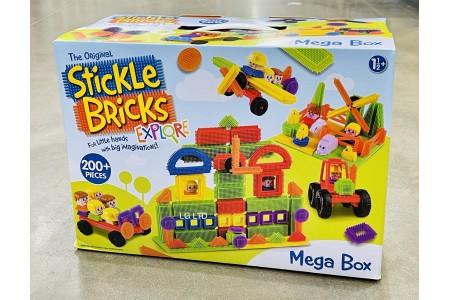 Stickle Bricks 202 Piece Mega Box Construction Set By Flair