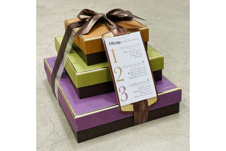 Chocodelice Finest Belgian Chocolates 3 Box Gift Set 490g
