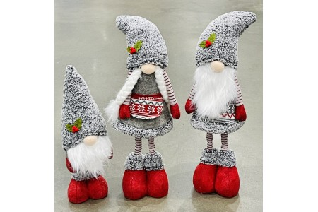 Decorative Christmas Gnomes Set of 3 14 Inch