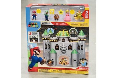 Super Mario Nintendo Bowser Castle Playset With 5 Super Mario Figures