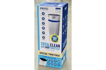HoMedics TotalClean 5 in 1 Tower AP-T20WTCC-GB  Air Purifier with HEPA & Carbon Filters