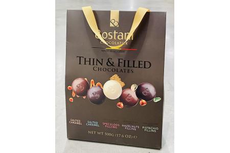 Bostani Chocolatier Thin & Filled Belgian Chocolate Bag 500g