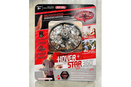 Hover Star 360° Motion Controlled UFO Drone Grey