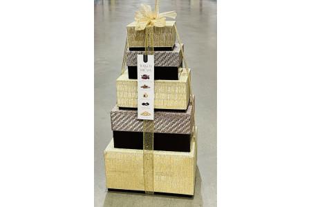 Tower of Treats Gold Box Festive Christmas Hamper
