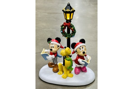 Christmas Caroller Table Top Ornament with Lights & Sounds Disney 15.5 Inches