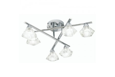 Alamas Chrome Flush Ceiling Light  6 Light Flush Ceiling Light Polished Chrome