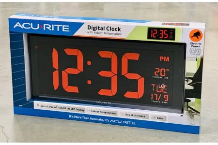 Acurite 18 inch Digital Clock with Calendar and Indoor Temperature