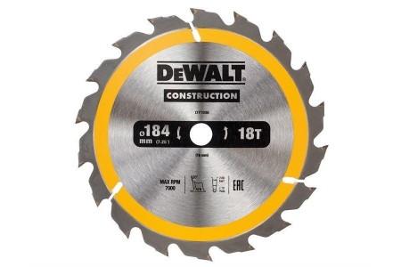DEWALT DT1938QZ Construction Circular Saw Blade 184 x 16mm x 18T