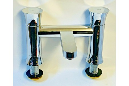 Hudson Reed Quill Bath Tap Filler Chrome QUI303 RRP £109.99
