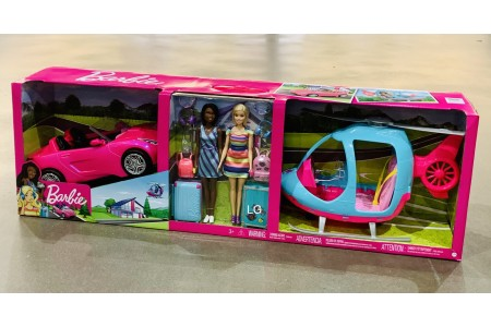 Barbie Girls Getaway Adventure Helicopter and Vehicle Set With 2 Dolls