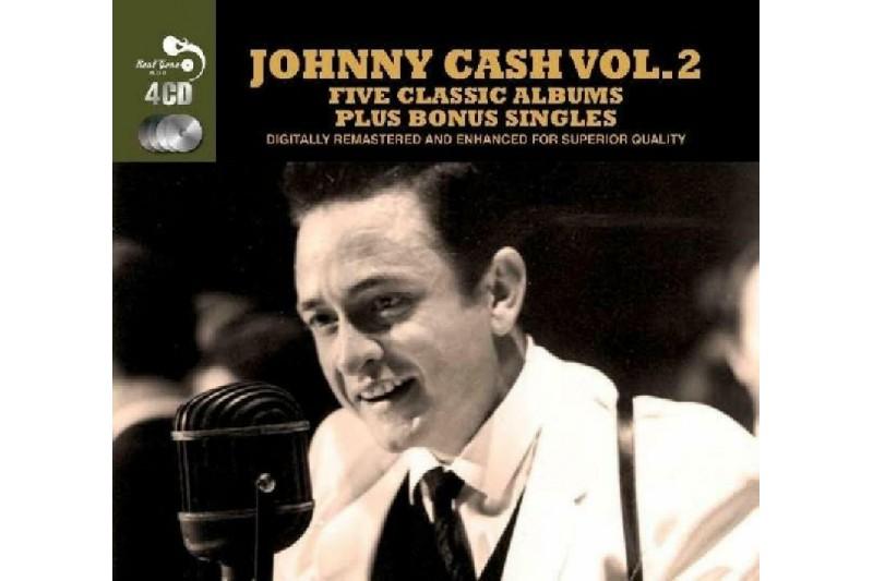 Johnny Cash Vol 2 5 Classic Albums Plus Bonus Singles [Audio CD]