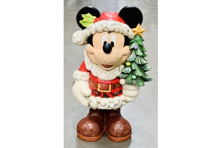 Jim Shore Disney Mickey Mouse Old St. Mick 17 Inch Statue Mickey Mouse as Santa