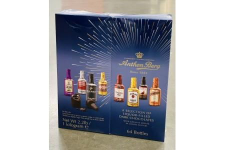 Anthon Berg Chocolate Liqueurs Original Spirits 64 Pcs 1kg BBE JAN 22
