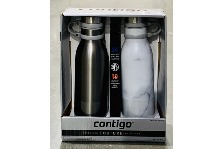 Contigo Couture Stainless Steel Water Bottle 2 Pack