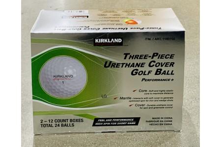 Golf Balls 24 Pack 3 Piece Urethane Cover by Kirkland Signature