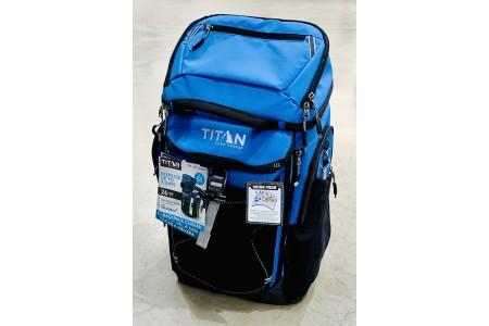 Titan Deep Freeze 26 Can Backpack Cooler Blue Ice Walls Leak Proof Summer Cool Bag