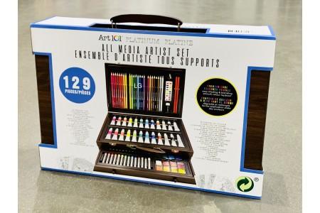 Art 101 129 Pieces Platinum All Media Artist Set with Wooden Case