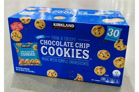 Mini Chocolate Chip Cookies 30 x 28g Cookie Pack Box Kirkland Signature
