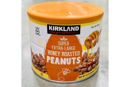 Super Extra Large Honey Roasted Peanuts Nuts Pack 1.13kg Kirkland Signature