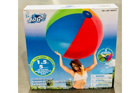 "Beach Balls 2 Pack Bestway 60"" 152cm H20 GO Summer Activity Beach"