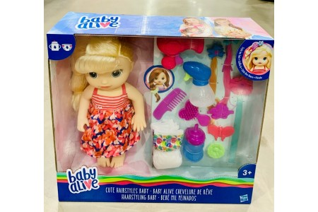 Baby Alive Cute Hairstyles Baby Doll Blonde With Accessories Hasbro