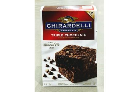 Ghirardelli Chocolate Triple Chocolate Brownie Cake Mix 2.26kg