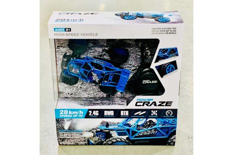 "Power Craze High Speed R/C Remote Control Car 4.7"" (8+ Years) Blue"