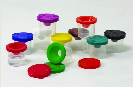 Craft Paint Pots and Lids Pack of 10 RVFM Non Spill Tubs