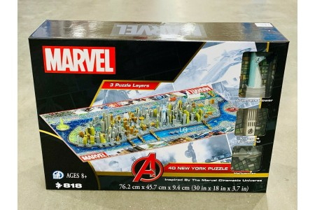 Marvel 4D Large Puzzle New York 818 Pieces Cityscape Licensed