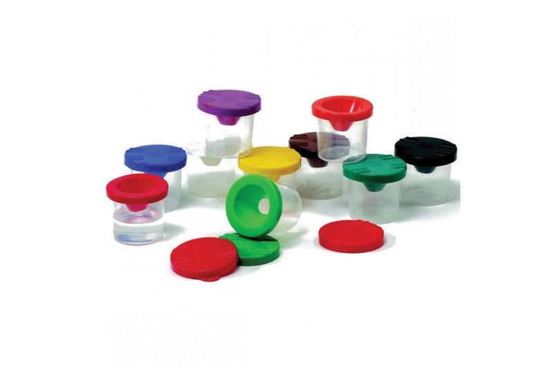 RVFM Non-Spill Paint Pots & Lids - Pack of 10 (30 Pieces)
