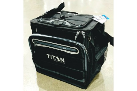 Cool Bag Titan Deep Freeze 40 Can Collapsible Cooler Bag Black Summer Camping